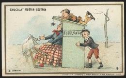 "Chromo Chocolat Guérin-Boutron, ""Alarme / Journaux"" - Guerin Boutron"