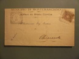 Regno - Da Montemarciano - Viaggiata 1900 - 1878-00 Umberto I