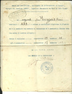 Le 31.08.1931 Ertificat D'aptitide MARINE NATIONALE Ecole Des Mécaniciens, Chauffeurs Et Scpahandriers De TOULON - Documenten