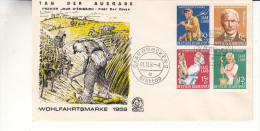 Sarre - Document De 1958 - Oblitération Saarbrücken - Beurre - Raisin - Fermier - 1957-59 Fédération
