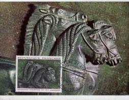 Cratère De Vix-bronze-tête De Cheval- France-Carte Maximum-Valeur 20 Euro-Toutes Les Cartes Sont Différentes - Archaeology