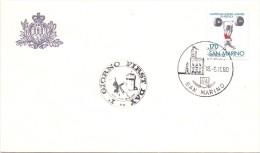 SAN MARINO FDC CAMPIONATI EUROPEI  PESISTICA  1980   (F160120-122) - Pesistica