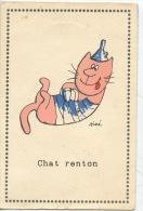 Chat Renton  Siné Illustrateur (éd Pucinella) Humour Asile De Charenton Camisole De Force Entonnoir Folie Santé - Sine