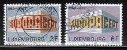 CEPT 1969 LU MI 788-89 USED LUXEMBOURG - 1969