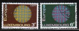CEPT 1970 LU MI 807-08 USED LUXEMBOURG - 1970