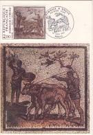 Mozaique Du 2ème Siècle,hommage à Virgile- France -Carte Maximum-Valeur 5 Euro - Archaeology