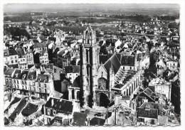 Cpsm: 95 PONTOISE En Avion Au Dessus De....  L´Eglise St Maclou (Vue Aérienne, Panhard, Citroen HY) N° 22 - Pontoise