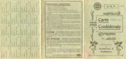 SYNDICAT CARTE CONFEDERALE C.G.T. 1919 1920 INSTITUTEUR LA CHAPELLE SAINT-REMY - Syndicats