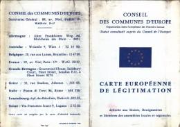 Conseil Des Communes D'Europe - Carte Européenne De Légitimation - Membre Du Conseil Municipal D'Amiens, 1968. - Documents Historiques