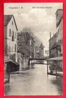 67. Haguenau. Passerelle Et Lavoirs Sur La Moder. Feldpost Hagenau Mars 1917. Censure Hagenau - Haguenau