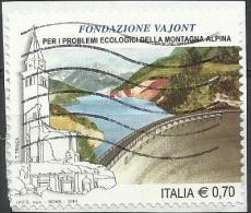 Italia 2014, Fondazione Vajont (o), Autoadesivo - 6. 1946-.. Repubblica