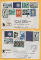 Luxemburg / 2 Einschreiben Von Luxemburg Nach Paris (Frankreich) Von 1974 - Mischfrankatur - Brieven En Documenten