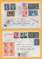 Luxemburg / 2 Einschreiben Von Luxemburg Nach Wezembeek (Belgien) Von 1974 + 1972 - Mischfrankatur - Brieven En Documenten