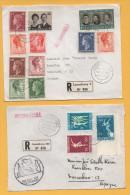 Luxemburg / 2 Einschreiben Von Luxemburg Nach Barcelona (Spanien) Aus Den Jahren 1968 + 1970 - Mischfrankatur - Brieven En Documenten