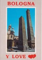 BOLOGNA 2 Due Torri E Basilica S. Bartolomeo - ANNULLO POSTALE Animata Con Auto D'epoca Car Voiture ALFA ROMEO GT Junior - Bologna