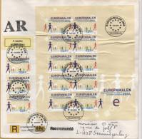 Luxemburg / Einschreiben Vom 13.6.2004 - Mi 1644 Im Kleinbogen - Europa - Europawahlen 2004 - Brieven En Documenten