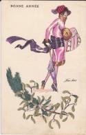 BONNE ANNEE---par X. SAGER---SOUHAITS PETITES FEMMES---voir 2 Scans - Sager, Xavier