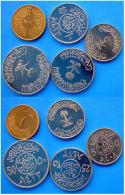 ARABIA SAUDITA SERIE 5 MONETE HALALAH FDC UNC - Arabia Saudita