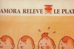 Carte Tintin Kuifje Tim : ELYSA 09/21 Amora Relève Le Plat (fictif Hergé) - Bandes Dessinées