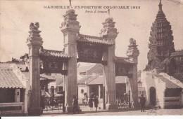 Cp , 13 , MARSEILLE , Exposition Coloniale De 1922 , Porte D'Annam - Expositions Coloniales 1906 - 1922