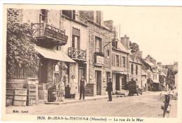 50 MANCHE Belle Animation Rue De La Mer Saint Jean Le THOMAS Au Magasin Loué Boulley Felix Potin - France