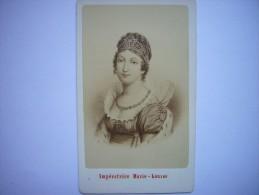 Photo CDV De L'impératrice Marie-Louise, épouse De L'empereur Napoléon Ier, Née Archiduchesse D'Autriche - Neurdein - Photos