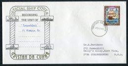 1981 Tristan Da Cunha Norway Ship Cover 'Sagafjord' - Tristan Da Cunha