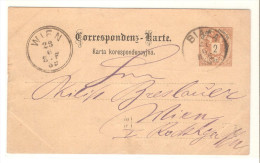 Entero Postal De Austria Circulado Matasello Biala - Stamped Stationery