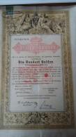 4001c: Österreichische Staatsschuldverschreibung 1868, 100 Gulden, D-Ö. Kontrollmarke - Hist. Wertpapiere - Nonvaleurs