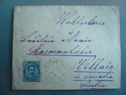Regno - Da Milano Alla Carinzia Austria Osterreich - 1878-00 Umberto I