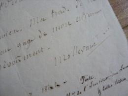 Charles Louis MOLLEVAUT (1776-1844) Poète Nancy - Académie Inscriptions. AUTOGRAPHE - Autographes