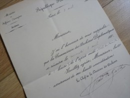 Julien GIRARD DE RIALLE (1841-1904) Anthropologue [Société Anthropologie Paris] - SANTIAGO Du CHILI - AUTOGRAPHE - Autographes