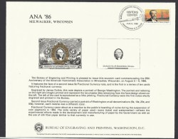 O) 1986 UNITED STATES - USA, MODERN PROOF BANKNOTE, ENGRAVING AND PRINTING ,5 CENTS - GEORGE WASHINGTON, XF - Monete & Banconote