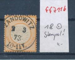 D.-Reich  Nr.  18    O    (ff7116 ) Siehe Scan - Deutschland