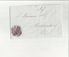 101153 ANTICA BUSTA PIEGO POSTALE SPEDITA DA TRIESTE FRANCOBOLLO DA 0,20 SOVRASTAMPATO A 2 C - 7. Trieste