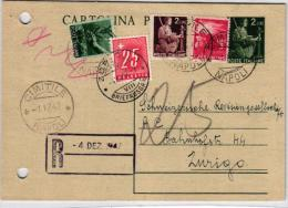 Italien Karte Mit Nachporto In Der CH .....( Br373  ) Siehe Scan - Portomarken