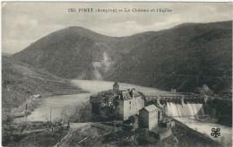 Aveyron : Pinet, Le Chateau Et L'Eglise - France