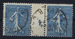 "FRANCE Millésimes Yvert: 161, Paire Millésime ""1904"",  30c. Semeuse Lignée  Signed/ Signé/signiert - Millésime"