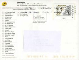 """Entier Postal De 2011 Sur CP Avec Timbre Et Illust. """"Programme Philatélique Premier Semestre 2011"""" (Circulé) - Listos A Ser Enviados: Otros (1995-...)"""