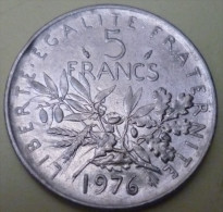 N°11/MONNAIE DE 5 FRANCS SEMEUSE 1976 - J. 5 Francs