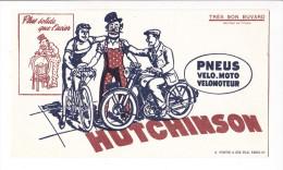 Buvard Pneu Moto Vélo HUTCHINSON D´apres Mich Non Signé - Fortin Et Fils - Bikes & Mopeds
