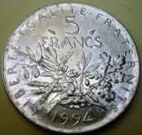 N°13/MONNAIE DE 5 FRANCS SEMEUSE 1994 - J. 5 Franchi