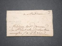 FRANCE - Lettre De La Petite Poste De Paris (messagerie Privée) De Limoux Pour Paris - 1770 - Pas Courant - P16854 - 1701-1800: Précurseurs XVIII