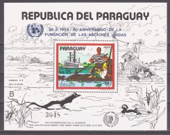 Paraguay 1985 Mi Block 417(3894) Steamship. Ducks / Dampfer. Ducks **/MNH - Schiffe