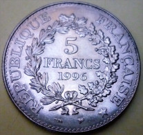 N°18/MONNAIE DE 5 FRANCS HERCULE 1996 - Francia