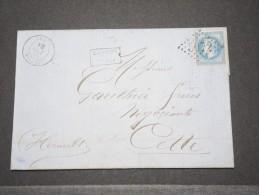 FRANCE - ALGERIE - Lettre De Terez (Algérie) Pour Cette - Oct 1868 - P16861 - Algérie (1924-1962)