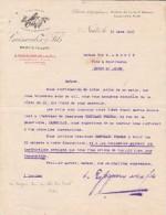 Lettre 1923 GEISWEILER & Fils ROSSIGNEUX Vins NUITS ST GEORGES Côte D´Or - 1900 – 1949