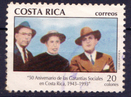 COSTA RICA - 1993 - Mi.Nr(s).1424 - 50 Jaar SOC.ZEKERHEID - -   Oblitèré/gebruikt/Usado/Used  ° - Costa Rica