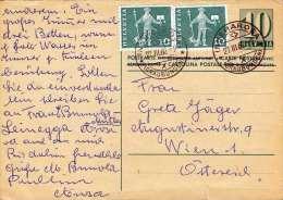 SCHWEIZ 1962 - 10 C Ganzsache + 2x10 C Auf Pk Gel.v.Arosa > Wien