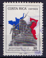 COSTA RICA - 1989 - Mi.Nr(s). 1363 -Verjaardag Franse Revolutie  -   Oblitèré/gebruikt/Usado/Used  ° - Costa Rica